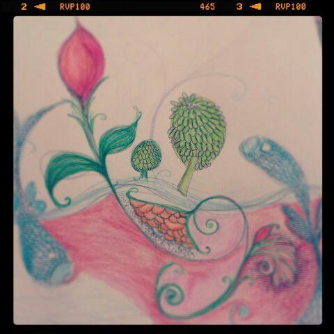 Ink Art+Mix Media+Water Color