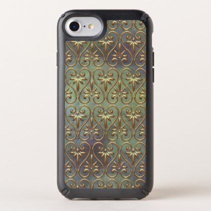 Elegant Chic Ornate Classy Antique Damask Pattern Speck iPhone Case - antique gifts stylish cool diy custom