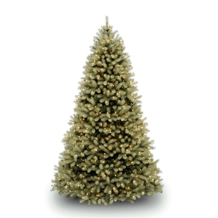Nice  ft Pre Lit Green Douglas Fir Down Swept Artificial Christmas Tree with Clear Lights Greens