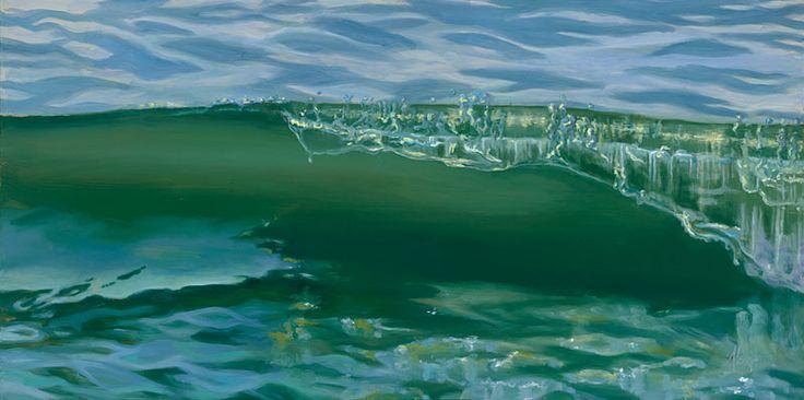 "Alexis Cuozzo ""Undulating Memory"" Oil on canvas : 24"" x 48 ..."