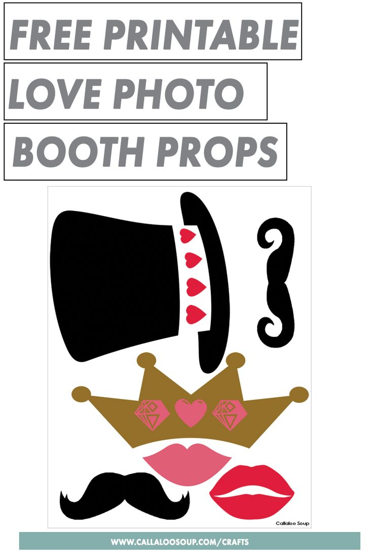 Free Printable Love Photo Booth Props