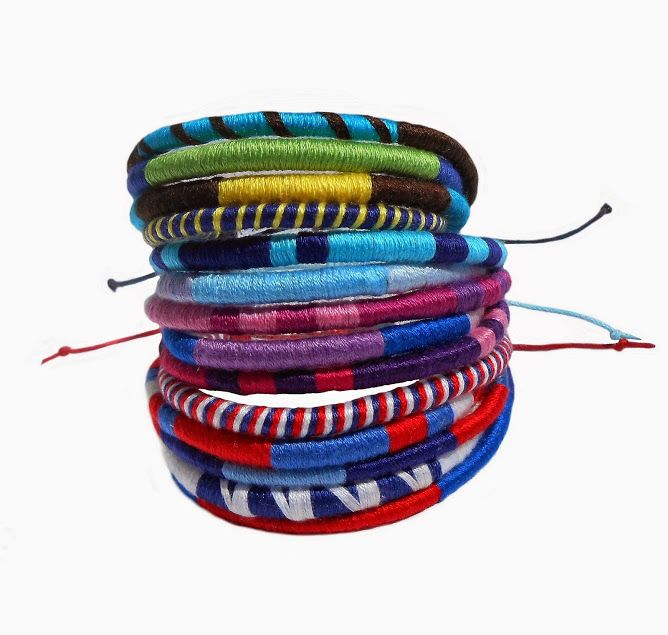 The ethnic bracelet was created as an effect of inspire of Maasai ornaments.
