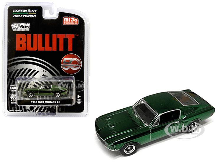 1968 ford mustang gt chrome green edition bullitt 1968