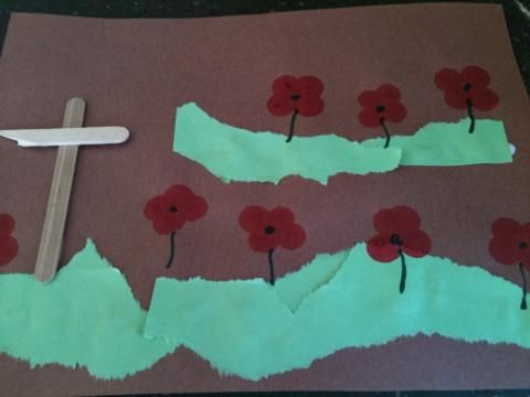 In Flanders Fields Remembrance Day craft | momstown arts and crafts