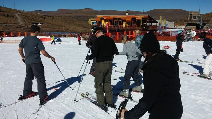 Learning to ski at Afriski