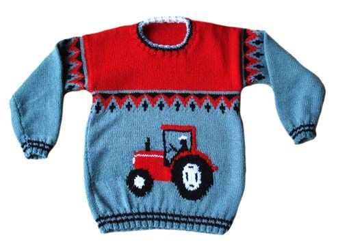 Tractor knitting pattern sweater