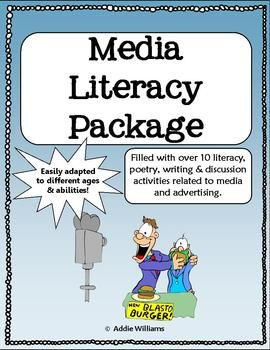 Media Literacy Package (gr. 5-9) - full of fun and engaging literacy activities to teach your students how to deal with today's advertising, social media and more!