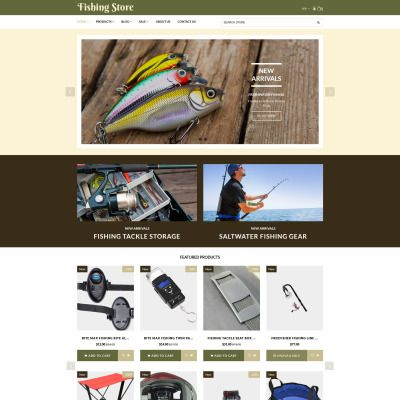 Shopify Template for Fishing Store - Fishing Supplies