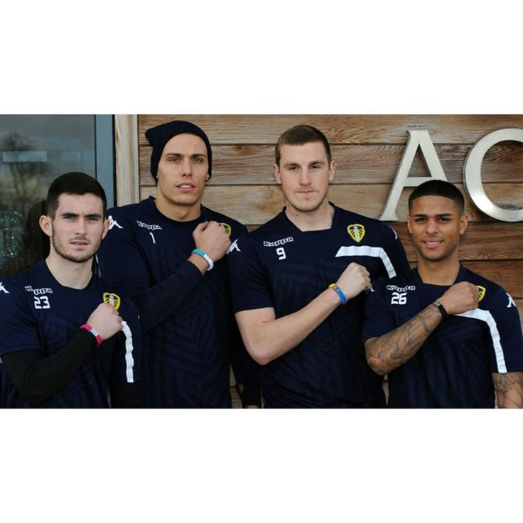 """On World Cancer Day ThursdayFebruary 42016 four of the UKs leading cancer charities will unite the nation and show that together we CAN do something about cancer.  Leeds United supporters are encouraged to buy a specially designed Unity Band -as modelled above by Lewis Cook Marco Silvestri Chris Wood and Liam Bridcutt -available from Cancer Research UK Breast Cancer CareAnthony Nolan and the Movember Foundation and to be a part of the generation that transforms the lives of millions who are…"
