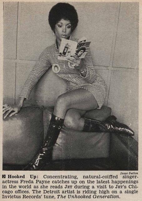 Singer Freda Payne Lounging and Reading Jet Magazine - Jet Magazine January 15, 1970