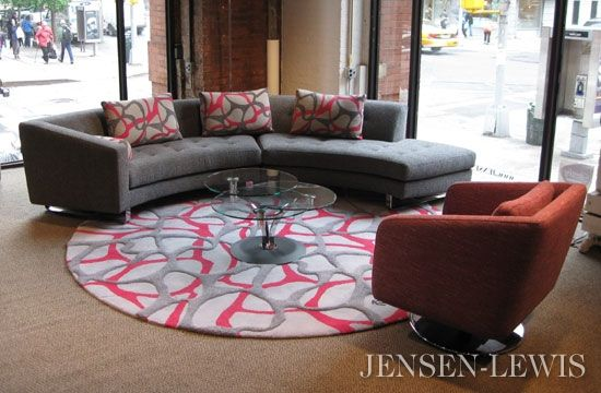 Della Robbia Shelby Sectional Sofa. I love the soft, circular forms of the couch and carpet.