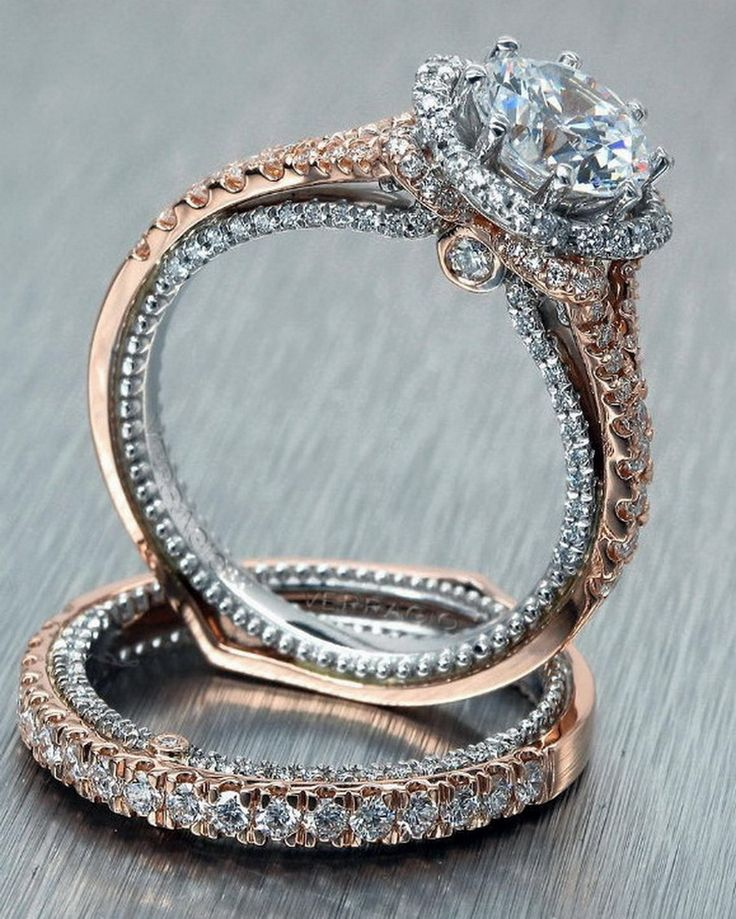 wedding in perfect sets tuyetnguyen band best the this bands setting ring gold below diamond images white beautiful smaller rose engagement rock is stacked dream and of pair a pinterest love on rings