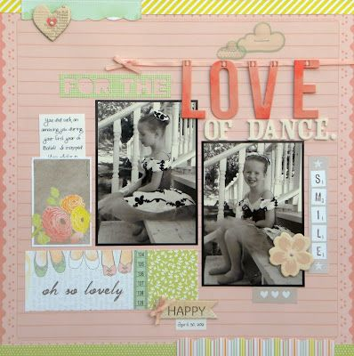 Layout for my LSS, ScrapHappy Pensacola, using the Dear Lizzy Neapolitan collection - Ashley Horton: Crafts Layout, Photos Scrapbook Papercraft, Crafts Ideas, Dance Scrapbook Ideas, Layout Design, Photos Scrapbookingpapercraft, Scrapbook Layout, Paper Crafts, American Crafts