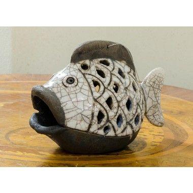 Pesce in ceramica Raku Bramada Srl