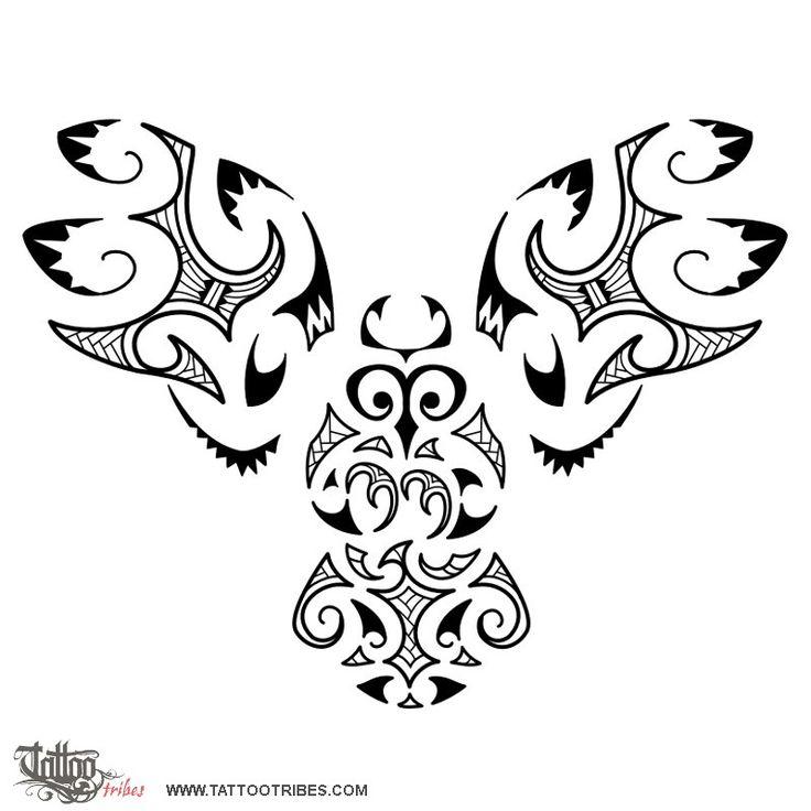 Tatuaggio di Gufo stile Maori, Serie Maori - Aria tattoo - custom tattoo designs on TattooTribes.com