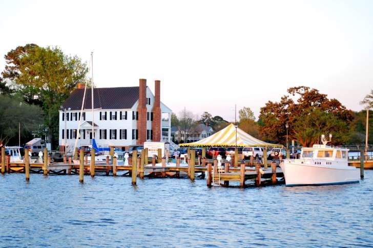 Edenton, NC: Forbes, Frommers, Smithsonian and Coastal Living ranked this town among the prettiest, the best, and the most charming of America's small towns. Edenton Harbor waterfront is where residents gather at the green beside the Parker House, romp with their children at the playground, or stroll along the pier in front of the lighthouse; it is like Mayberry on the water.