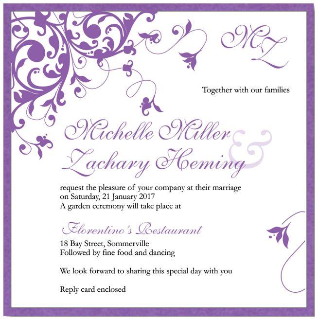 wedding invite wording templates free