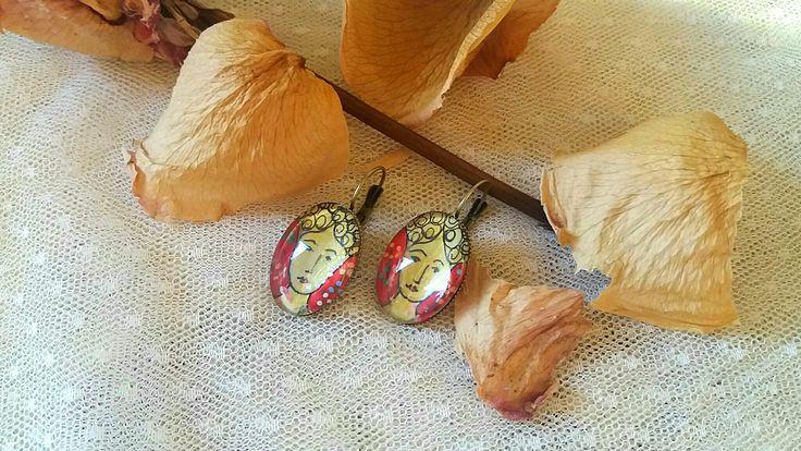 #earrings#red#yellow colour#autumn sense#