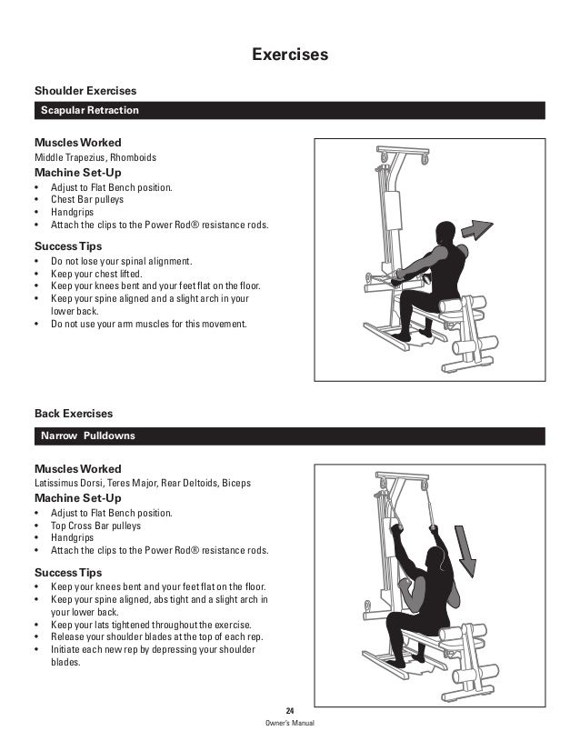 Bowflex Pr1000 Home Gym Exercises Manual In 2020 Bowflex Home Gym Exercises Bowflex Workout Routine
