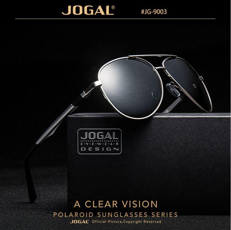 JOGAL Polarized Alloy frame style luxury Fashion brand designer aviator sunglasses for men outdoor driving fishing eyewear male