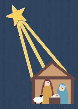 Felt Nativity Patterns | Nativity banner- Use burlap and felt to create a hanging banner of a ...