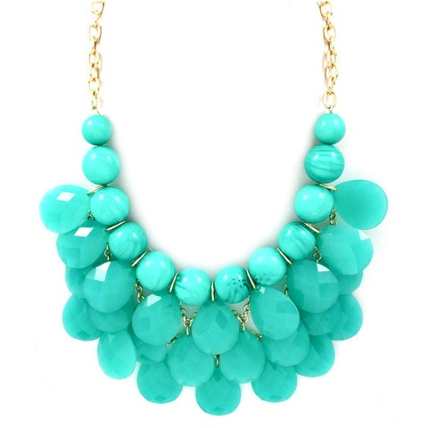 Stunning!: Turquoise Necklaces, Turquoise Accessories, Turquoi Necklaces, Aqua Blue, Turquoise Shorts, Turquoi Jewelry, Turquoise Statement Necklaces, Bibs Necklaces, Chunky Necklaces