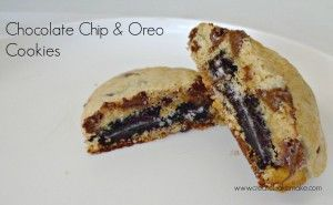 Choc Chip & Oreo Cookies Title Pic