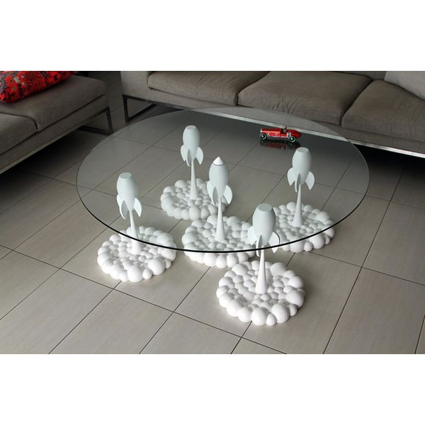 PRODUCTS :: LIVING AND DESIGN :: Furniture :: Coffee table :: Pure White Rocket Coffee Table