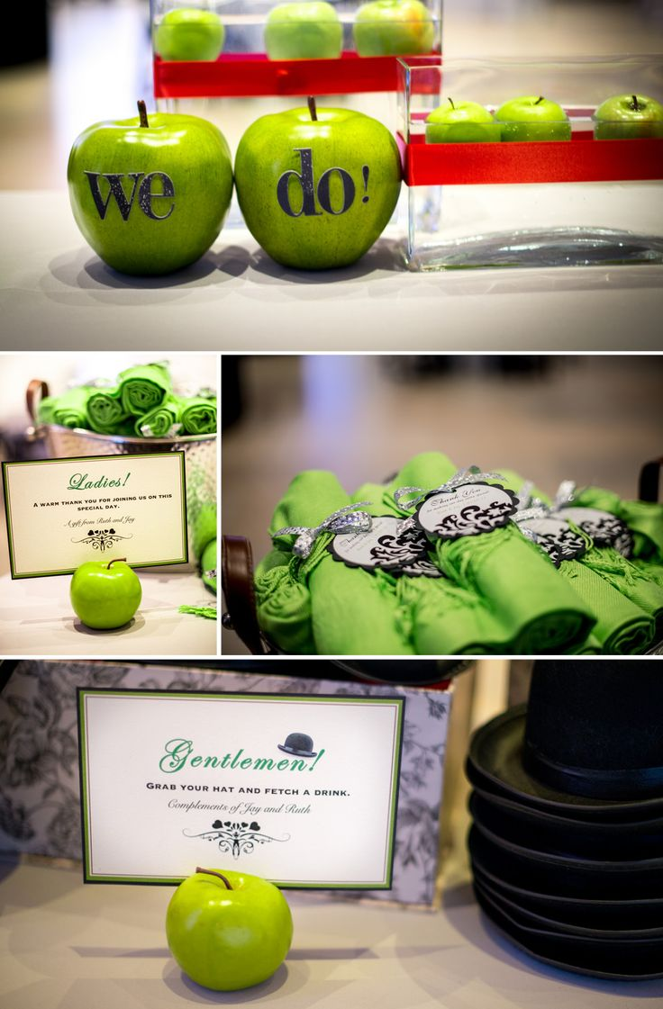 Apple decorations wedding - Cute We Do Apples For Green Apple Wedding