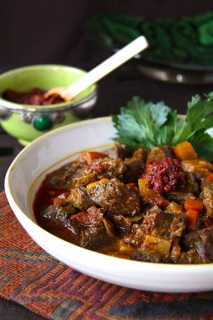 Moroccan Beef Stew with Harissa | A Thought for Food