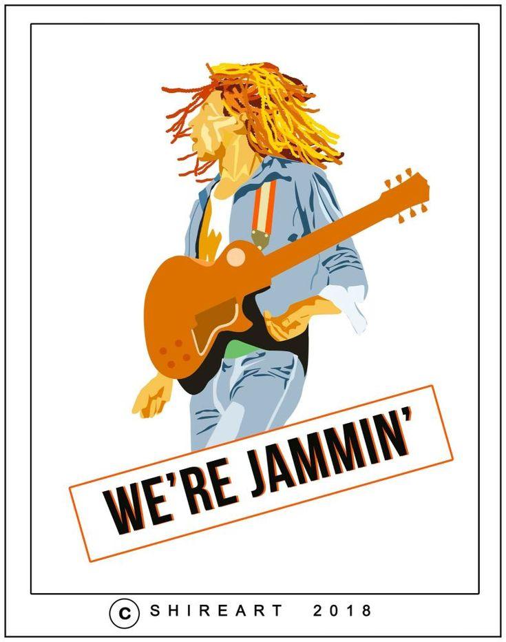Bob Marley Minimalist Poster - We're Jammin'