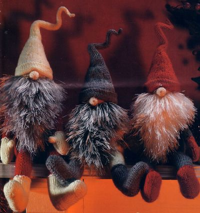 "Jultomten ""tomte"" Swedish Christmas Gnomes so freakin cute >>I wanna make one or get one"