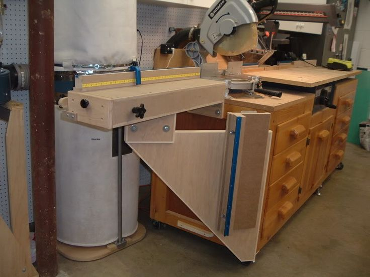 Miter Saw Radial Arm Saw Cabinet Workshop Projects Benches Pinterest Radial Arm Saw