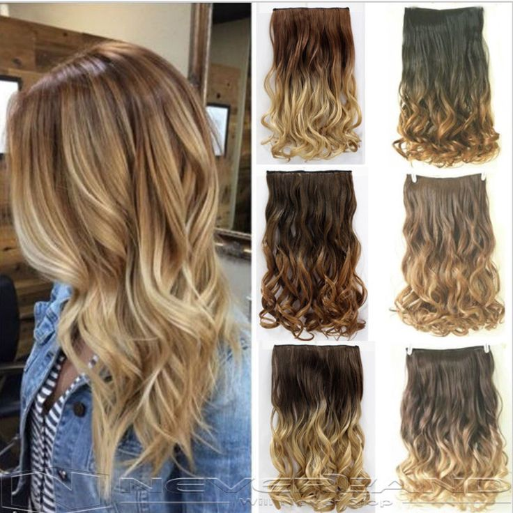 24 Hair Extention Curly Wavy Hair And Wavy Hair