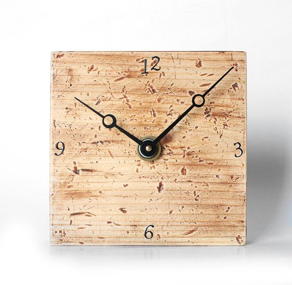 Au Natural Wall Clock - Wood Home Decor in Shades of Brown