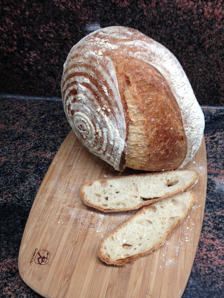 Sourdough wheat with single score inspired by Luc Martin.