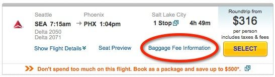 A good reference list of every airline's baggage fees.