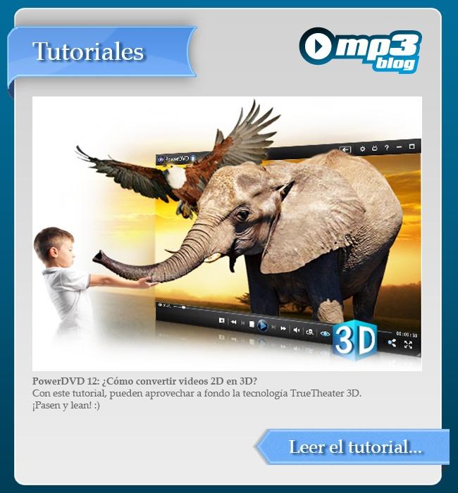 PowerDVD 12: ¿Cómo convertir videos 2D en 3D? - Este programa permite realizar ajustes muy interesantes a las películas en DVD y Blu-ray. Con este práctico tutorial,pueden aprovechar a fondo las bondades de la tecnología TrueTheater 3D. http://blog.mp3.es/como-convertir-videos-2d-en-3d-con-powerdvd/?utm_source=pinterest_medium=socialmedia_campaign=socialmedia