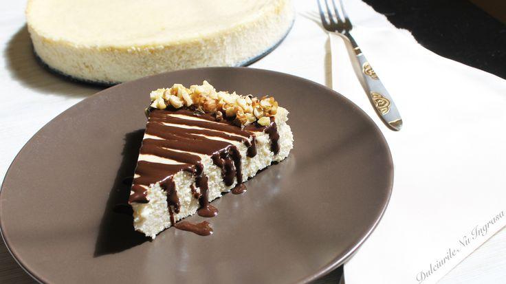 Cheesecake Proteic cu Aroma de Vanilie (fara zahar, continut scazut de grasimi, 100% sanatos)