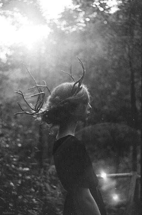 girl with ACTUAL antlers??