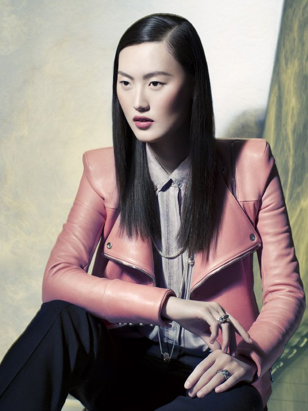 VOGUE CHINA:  Photographer: Benjamin Kanarek, Judy Inc #vogue #voguechina #china #fashion #photography #clothing #leather #pink #hair #makeup #beauty #model #style #jewelry