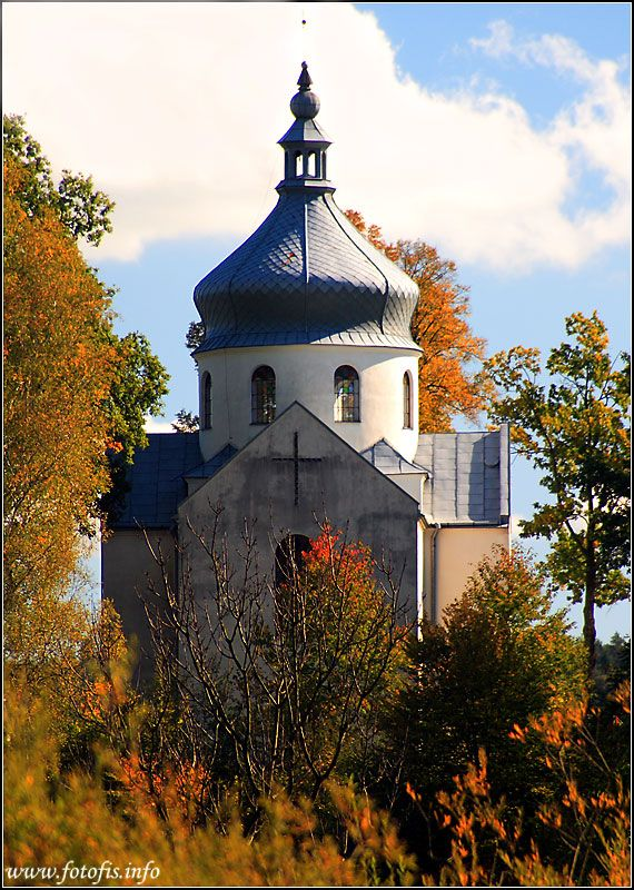 Paints of autumn.. Bieszczady mountains, Orthodox church St.Michael Archangel, Wielopole, Poland Copyright: Krzysztof Dera