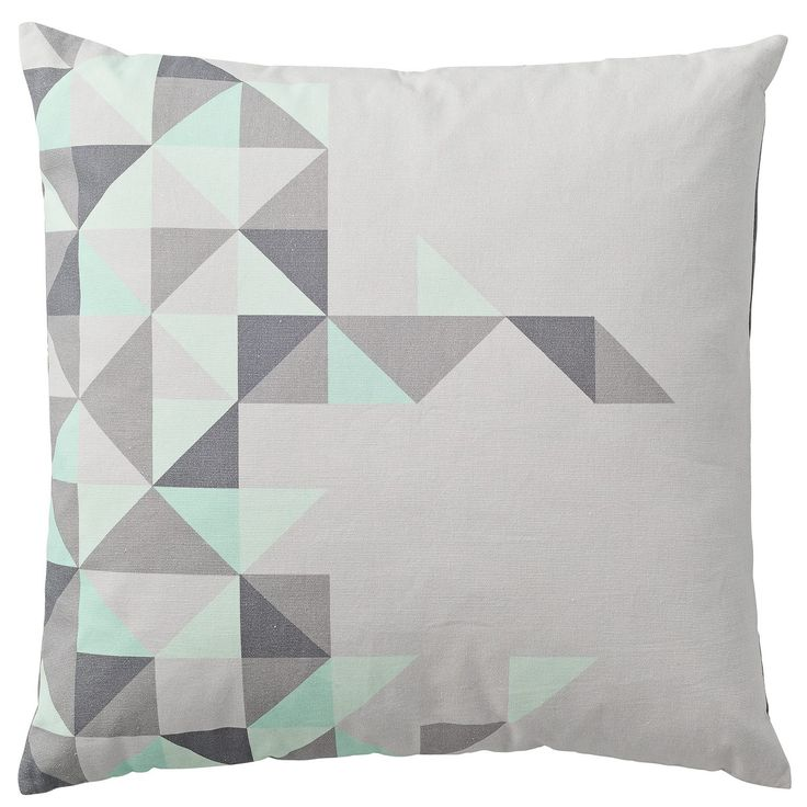 Big Triangles kudde, mint – Bloomingville – Köp online på Rum21.se