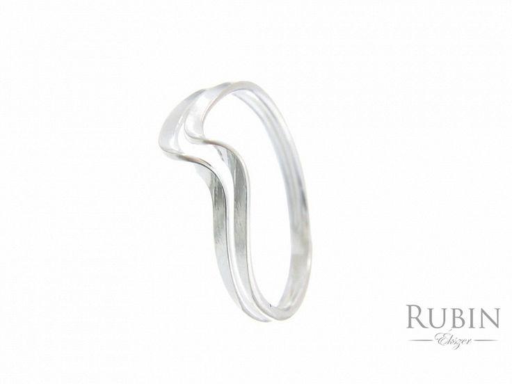 Hullám motívumos ezüst gyűrű