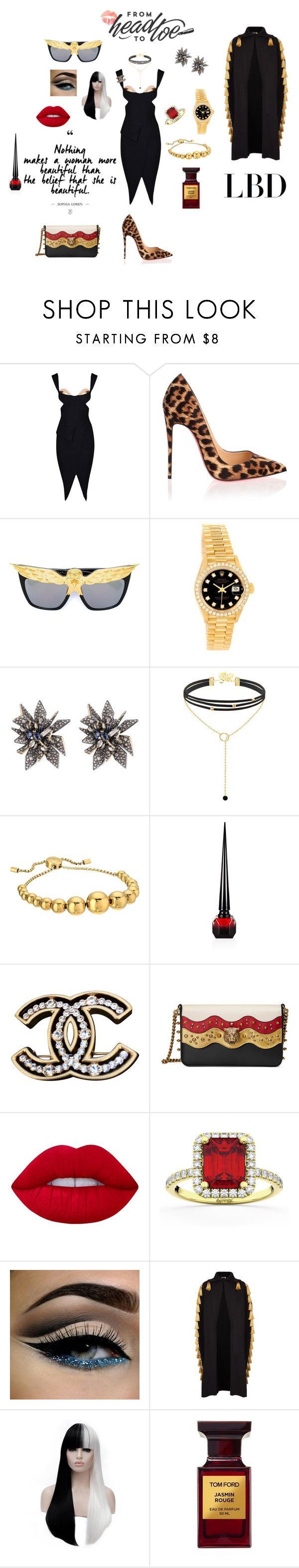 LBD Contest by the-jewelry-trunk on Polyvore featuring Burberry, Christian Louboutin, Gucci, Rolex, Allurez, Chanel, Alexis Bittar, Michael Kors, Anna-Karin Karlsson and Lime Crime