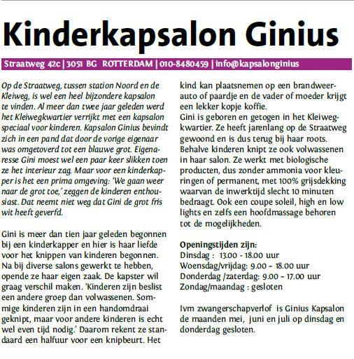 Kinderkapsalon Ginius