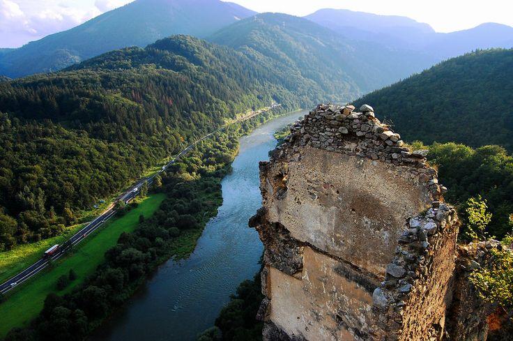 View from Strečno Castle #Slovakia