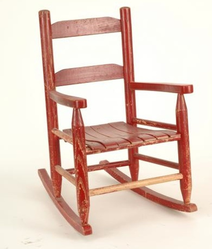 I had a bright red vintage wooden rocking chair as a youngster.: Wooden Rocking Chairs, Childs Rocking Chair, Kids Memories, The One, Vintage Rocking Chair