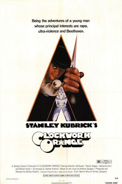 23. A Clockwork Orange (1971) - The 75 Most Iconic Movie Posters of All Time   Complex UK