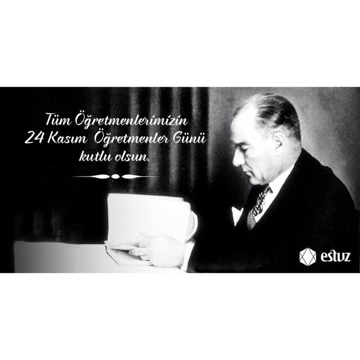 Geleceğimizi aydınlatan tüm öğretmenlerimizin Öğretmenler Günü'nü kutlarız.  #öğretmenlergünü #estuz #Atatürk